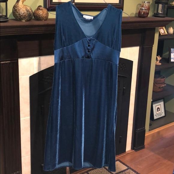 9d705d247b168 Motherwear Dresses | Beautiful Blue Formal Holiday Velvet Nursing ...